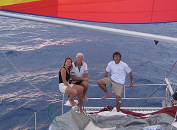Mathilde, Luc and myself on Malucat
