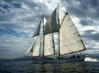 Classic Boat Under Sail